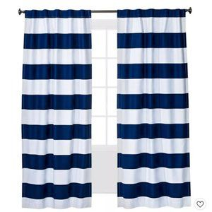 *More available* Striped Navy Nautical Curtains